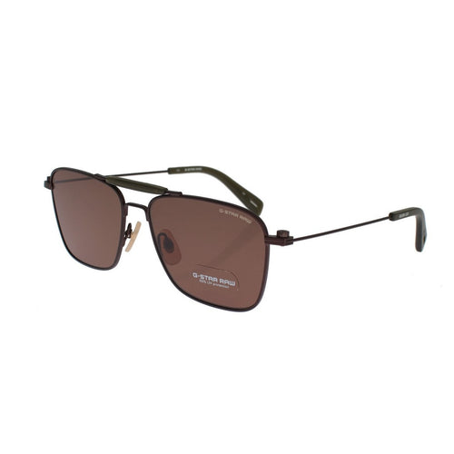 G-Star Raw Brown Metal Frame UV Lens Square Sunglasses