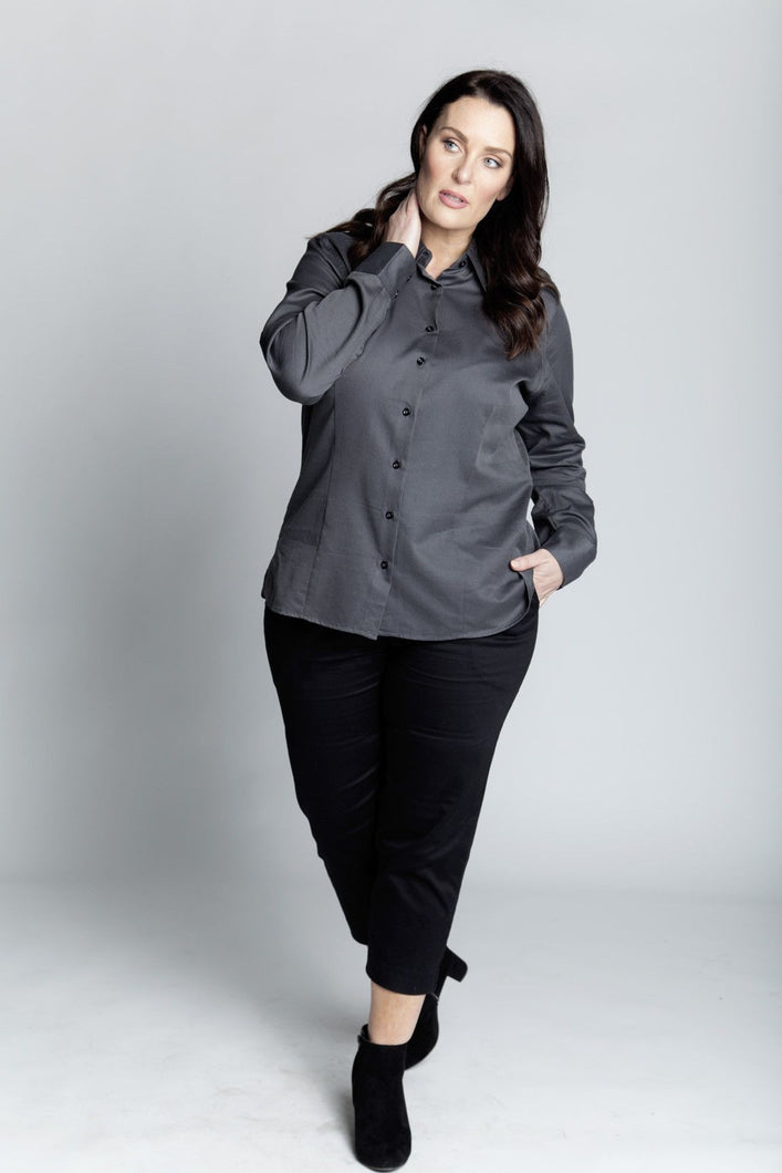 Alison Dominy Market Place ALISON DOMINY Andrea Shirt plussize curvy workwear womenswear menswear inbetweenie fashion