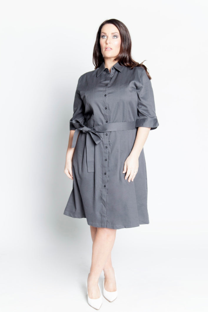 Alison Dominy Market Place ALISON DOMINY Cleo Shirt Dress plussize curvy workwear womenswear menswear inbetweenie fashion