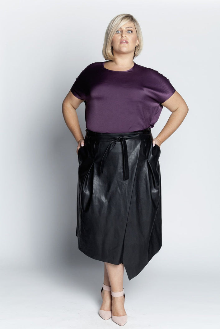 Alison Dominy Market Place ALISON DOMINY Karen Wrap Skirt plussize curvy workwear womenswear menswear inbetweenie fashion