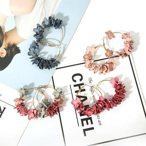 1 Pair Bohemia Flower Earings Women Lady Girls Club Party Beach Holiday Fringe Dangle Ear Stud-Women Bracelet-inSowni