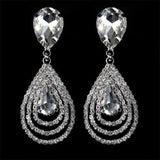 1 Pair Gem Retro Bohemia Drop Crystal Long Dangle Earrings Women Lady Girls Vintage Rhinestone Club Party Ear Stud Fashion Popular Gift Accessories Wedding Jewelry-Women Earrings-inSowni