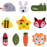 10 Pack Bulk Mini Small Cute Cartoon Animal Felt Hair Bow Clips Barrettes Alligator Lined Snap Ribbon Pigtail Holder Accessories-Hair Clips-inSowni