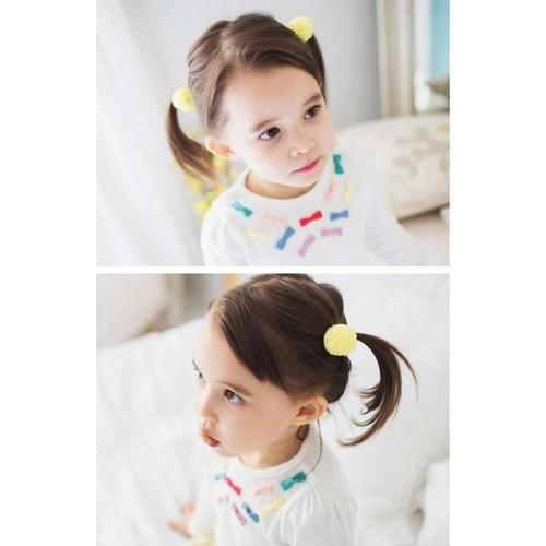"10 Pcs/Lot Fur Ball 1"" Hair Bow Covered Alligator Clips Baby Girl Toddlers Kids Children Hair Accessories-inSowni"