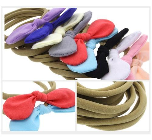 "10pcs/Lot 4"" Hair Bow Nylon Headbands Accessories Hairband Flower Baby Girl Toddlers Kids Children-inSowni"