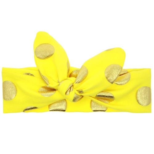 10PCS/Lot Self Tie Gilding Plaids Polka Dot Bunny Ears Headband Hair Bands Bow Accessories Pack Kids-inSowni