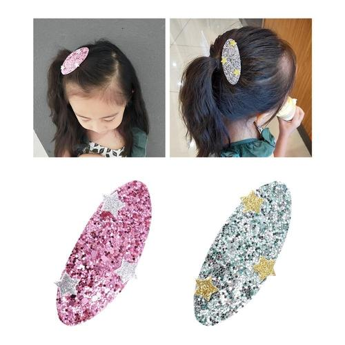 11 Pack Bulk Mini Small Cute Animal Glitter Sparky Sequins Hair Bow Clips Barrettes Alligator Lined Snap Ribbon Pigtail Holder-Hair Clips-inSowni