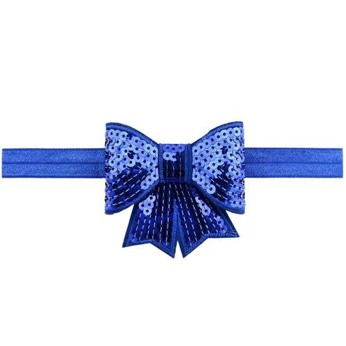 "12 PCS/Lot 2.8"" Glitter Sequin Bow Headbands Hair Bands Baby Girl Toddlers Kids Children DIY-inSowni"