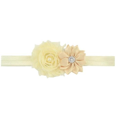 "12 PCS/Lot 3.5"" Shabby Flower Headbands Hair Bands Baby Girl Toddlers Kids Children DIY Accessories-inSowni"