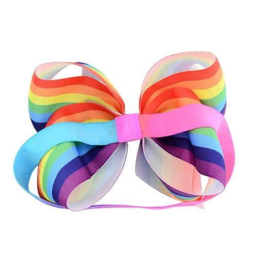 "12 PCS/Lot 6"" Rainbow Grosgrain Baby Girl Toddlers Kids Hair Bow Headbands Bands Headdress-inSowni"