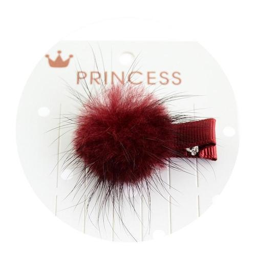 "12 Pcs/Lot Fur Ball 1.2"" Hair Bow with Covered Alligator Clips for Baby Kids Barrettes Hair Accessories-inSowni"