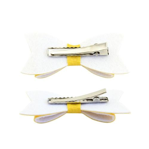 "12 Pcs/Lot Leather 3"" Hair Bow with Alligator Clips for Baby Girl Kids Barrettes Hair Accessories-inSowni"