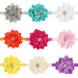 12 PCS/Lot Lotus Flower with Rhinestone Headband Hair Band Bow for Baby Girl Toddlers Kids DIY-inSowni