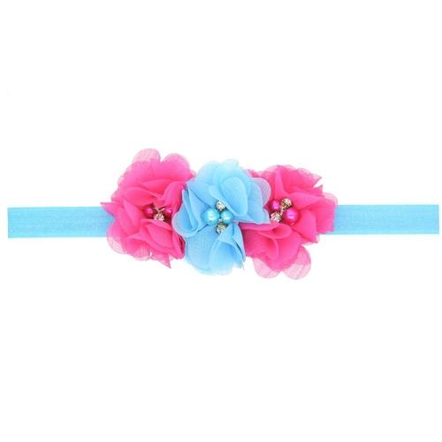12 PCS/Lot Lotus Flower with Rhinestone Pearl Headband Hair Band Bow for Baby Girl Toddlers Kids-inSowni