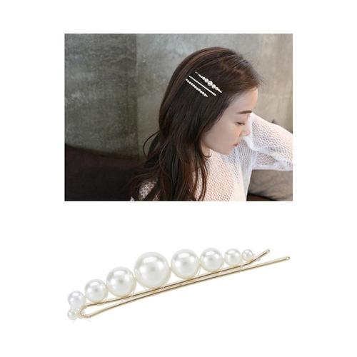 16 Pack Metal Resin Pearl Gold U Shaped Bobby Pins Hairpins Hair Clips Alligator Duckbill Barrettes Grip Stick Clasp Holder-Hair Pins-inSowni