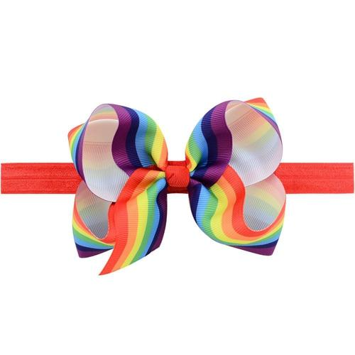 "16 PCS/Lot 4.3"" Rainbow Colorful Baby Girl Infant Toddlers Kids Hair Bow Headbands Bands Headdress-inSowni"