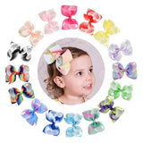 "16pcs/Lot 4"" Inch Rainbow Alligator Hair Bow Clips Pins Barrettes Accessories for Baby Toddler Girls-inSowni"