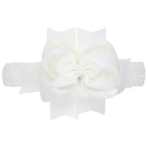 "1PC 8"" Grosgrain Large Hair Bow Headbands Hairband Accessories for Baby Toddler Girls Kids Children-inSowni"