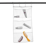 2 Pack Hanging Mesh Shower Caddy Organizer with 6 Pockets, Shower Curtain Rod/Liner Hooks Bathroom Wall Door Organization, Dorm Space Saving, Bathroom Accessories, Bath Toy Organizer Kids with 4 Rings-Shower Organizer-inSowni