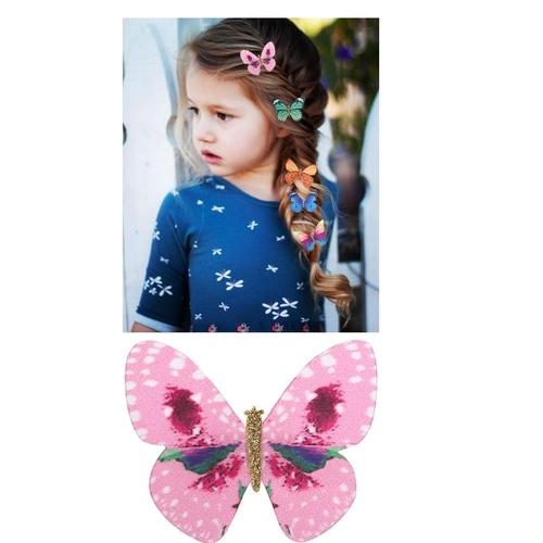 20 Pack Glitter 90S Butterfly Hair Clips Mini Small Claw Hairpins Barrettes Alligator Clamps Claws Accessories Wedding Bridal-Women Hair Clips-inSowni