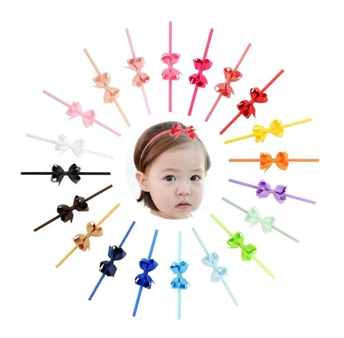 "20 PCS/Lot 2.4"" Grosgrain Baby Girl Infant Toddlers Kids Hair Bow Headbands Bands Accessories-inSowni"