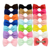 "20 Pcs/Lot 2.8"" Hair Bow with Alligator Clips for Baby Girl Toddlers Kids Barrettes Hair Accessories-inSowni"