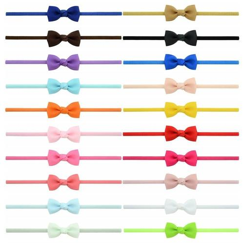 20 PCS/Lot Baby Girl Infant Toddlers Kids Hair Bow Headbands Bands Accessories Headdress-inSowni