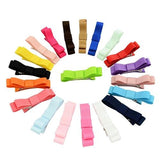 "20 Pcs/Lot Grosgrain 2"" Hair Bow Covered Alligator Clips Baby Girl Kids Barrettes Hair Accessories-inSowni"