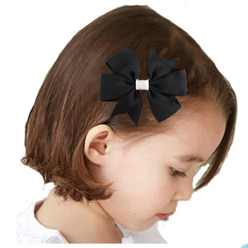 "20 Pcs/Lot Grosgrain 3"" Alligator Solid Hair Bow Clips for Baby Girl Kids Barrettes Hair Accessories-inSowni"