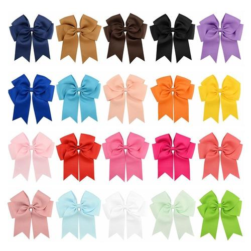 "20 Pcs/Lot Grosgrain 6"" Inch Alligator Hair Bow Clips for Baby Girl Kids Barrettes Hair Accessories-inSowni"