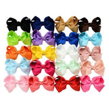 20 Pcs/Lot Hair Bow with Alligator Clips for Baby Girl Toddlers Kids Barrettes Hair Accessories-inSowni