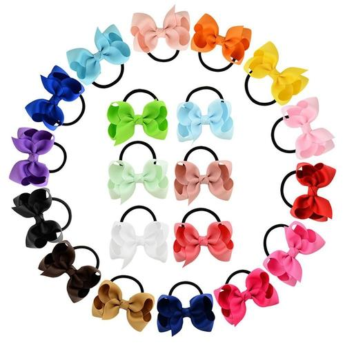 "20pcs/Lot 3"" Hair Bow Tie Rope Ring Band Ponytail Holder DIY Flower Headbands Accessories Baby-Baby Girl Hair Ties-inSowni"