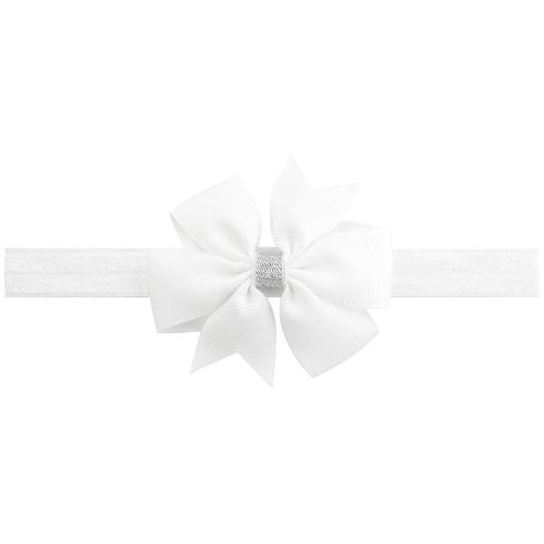 "20pcs/Lot 3"" Silver Ribbon Hair Bow Headbands Accessories Hairband Flower for Baby Girl Kids-inSowni"