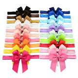 "20pcs/Lot 3.5"" Ribbon Hair Bow Headbands Accessories Hairband Flower for Baby Girl Toddlers Kids-inSowni"