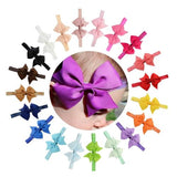 "20pcs/Lot 4"" Hair Bow Headbands Accessories Hairband Flower Solid Color for Baby Girl Kids Children-inSowni"