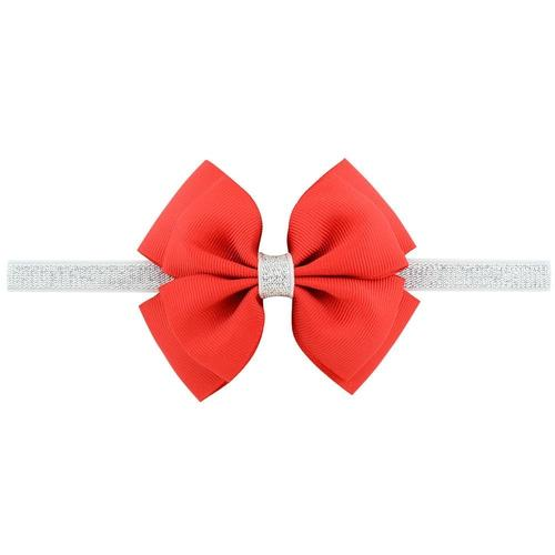 "20pcs/Lot 4"" Inch Headdress Silver Hair Bow Bands Headbands Hairband Flower for Baby Girl Kids Children-inSowni"