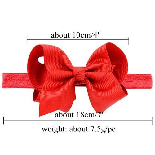 "20pcs/Lot 4"" Ribbon Hair Bow Headbands Accessories Hairband Flower for Baby Girl Toddlers Kids-inSowni"