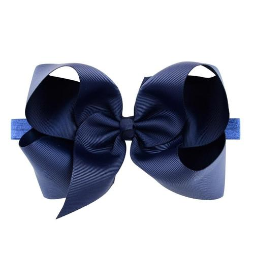 "20pcs/Lot 6"" Big Hair Bow Bands Headbands Hairband Flower Solid Color for Baby Girl Kids-inSowni"