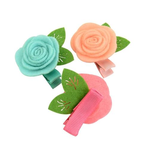 2pcs Baby Girl Toddler Kids Children Flower Hair Bow Clips Barrettes Pins Accessories Headdress-inSowni