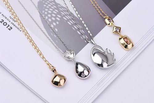 3pcs Bulk Women Girls Alloy Necklace Crystal Pendant Chain Multi-Style Popular Gift Jewelry Set-Women Necklaces-inSowni