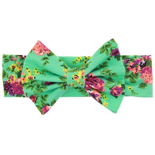 3PCS/Lot Floral Print Flower Bow Headband Bulk for Baby Girl Kids Toddlers Hair Accessories Headwear-inSowni