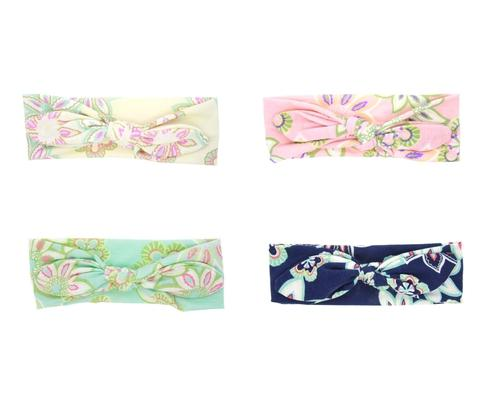 4pcs/Lot Baby Girl Floral Bow Tie Bunny Ears Headband Hair Bands Bow Accessories Pack Toddlers-inSowni