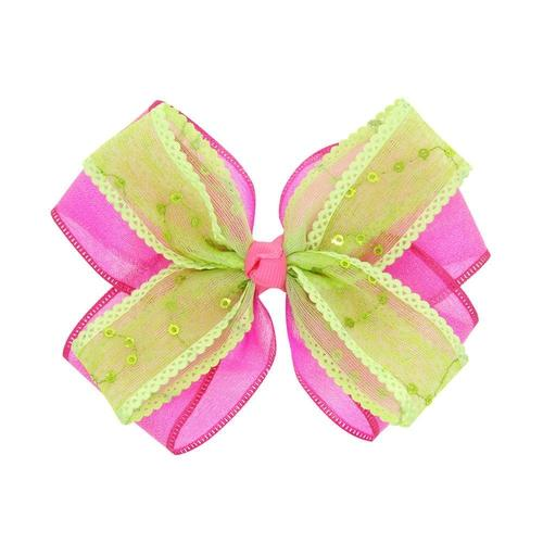 "5pcs/Lot 4.7"" Double Color Bow Hair Clips Hairpins for Princess Baby Girl Toddlers Kids Children-inSowni"