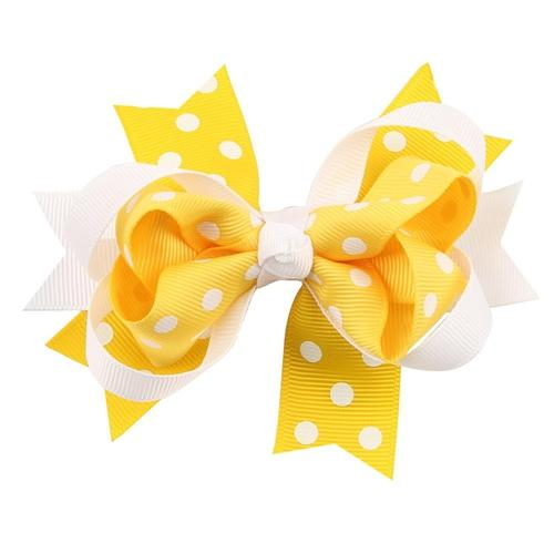 "5pcs/Lot 5"" Inches Kids Baby Girl Toddler Alligator Hair Clips Big Polka Dot Bow Accessories Hairpins-inSowni"
