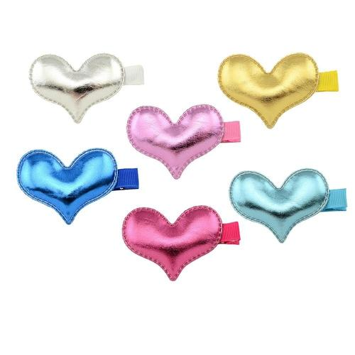 "6 Pcs/Lot 2"" Crown Star Heart Alligator Hair Clips for Baby Girl Toddlers Barrettes Hair Accessories-inSowni"