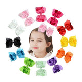 "8"" Inch Rhinestone Crystal Alligator Hair Bow Clips Pins Barrettes for Baby Toddler Girls Kids Children-inSowni"