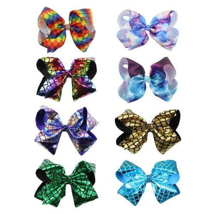 8 inch Shiny Glitter Giant Big Large Bowknot Hair Clips Barrettes Bows Party Accessories Bulk for Women Girls Kids Toddler Baby-Hair Clips-inSowni