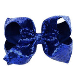 "8"" Large Sequin Glitter Bow Hair Clips for Baby Girl Toddlers Kids Children Barrettes Hair Accessories-Hair Clips-inSowni"