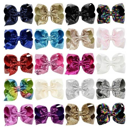 Girls Hair Clip Large Leather Glitter Bow Hair Clip Hair Accessory
