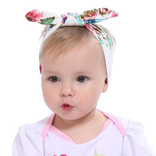 Printed Flowers Girls Baby Head Wraps Baby Headband Alligator Clips Hair Clip